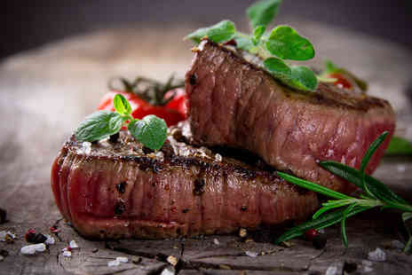 Nira Caledonia - Locally Sourced Sirloin Steak Meal with Prosecco for Two   - Save 50%