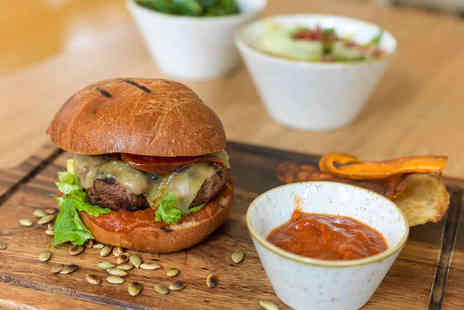 My Kitchen - Burger with Side for Two with a Glass of Wine or Beer Each - Save 0%