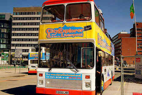 City Explorer - Hop On Hop Off Liverpool Sightseeing Tour for Two  - Save 56%