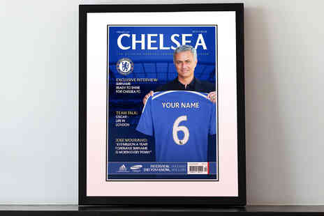 UR InThePaper - Personalised Football Club Magazine Cover Framed Picture Including Delivery - Save 50%