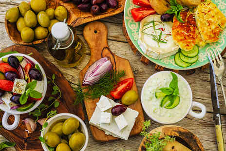 The Life Goddess - Two course Greek lunch with wine - Save 69%