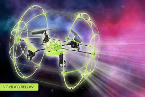 Trackpack - Four channel Skywalker Quadcopter drone with a glow in the dark cage - Save 54%