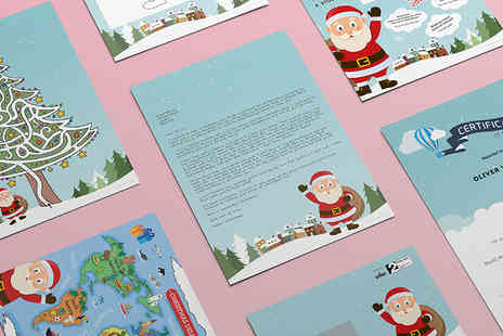 The Handmade Christmas Company - Personalised letter from Santa, certificate and activity pack   - Save 50%