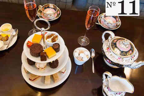 No 11 Brunswick  - Afternoon Tea with Glass of Sparkling Wine Each for Two - Save 0%