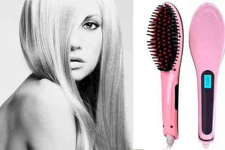 Hc Electronics Technology - Hair Straightening Brush with Temperature Control - Save 51%