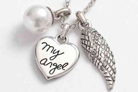 CFS Trading - My Angel Heart, Wing and Pearl Necklace - Save 61%
