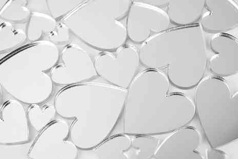 Mungai Mirrors - Set of 50 mini heart shaped craft mirrors  - Save 82%