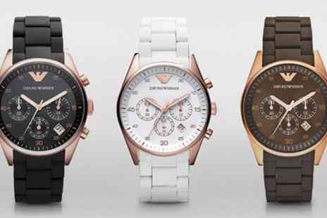 I love watches - Mens and Ladies Emporio Armani Watches With Free Delivery - Save 56%