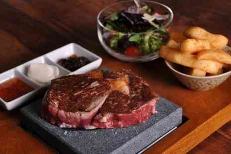 Steak House - Volcanic Rock Steak Meal with Wine  - Save 50%