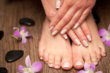 Glamour U - Manicure or Pedicure or Both  - Save 52%