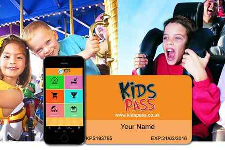 Kids Pass - 12 month Kids Pass to 100s of attractions - Save 52%