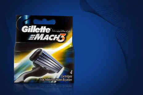 My Perfume Room - Pack of four Gillette Mach 3 razor blades - Save 45%