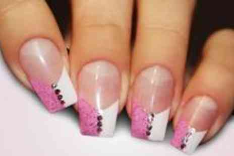The Hair and Beauty - Set of acrylic nails, false eyelashes plus an eyebrow wax and tint - Save 71%
