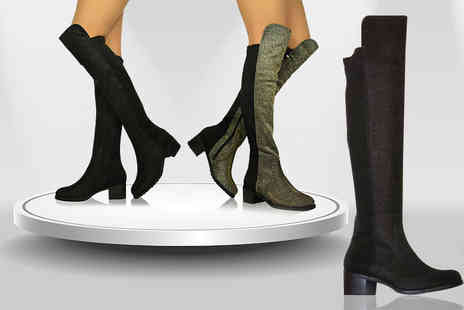 Top Notch Fashion Designer  - Pair of over the knee boots  - Save 82%