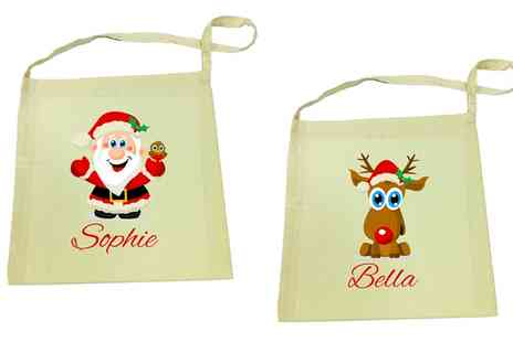 Dinkleboo - Personalised Christmas Tote Bag  - Save 58%