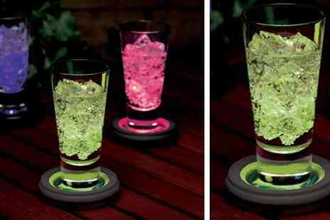 The Treasure Chest - LED Colour Changing Drinks Coasters - Save 67%
