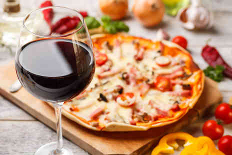 Papavero Restaurant - Authentic Italian Pizza Pasta or Risotto with Wine for Two  - Save 45%