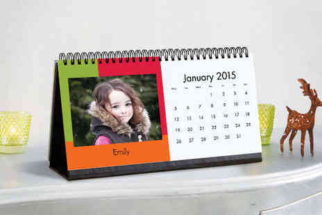 Snapfish  - Snapfish Personalised Photo Desk Calendar - Save 73%