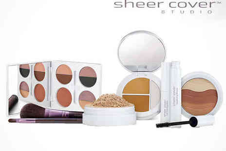 Sheer Cover ) - Five Piece of Sheer Cover Studio Introductory Makeup Kit  - Save 62%