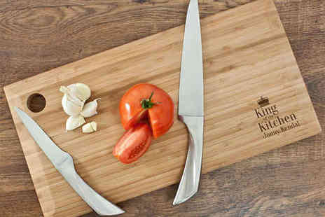 Treatre public  - Bamboo Chopping Board with a Personal Touch - Save 50%