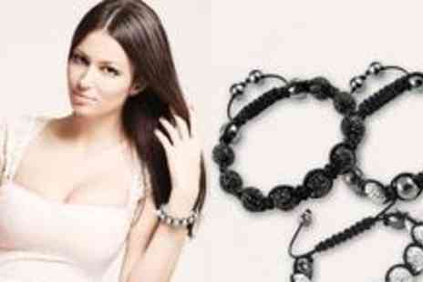 Bo vida - Three Shamballa-style bracelets, available in twelve different colours - Save 87%