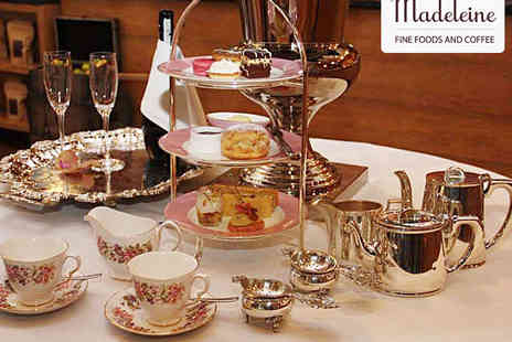 Madeleine - Afternoon Tea for Two With a Glass of Prosecco Each for Two - Save 50%