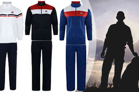 by public demand - Mens Fila Retro Zip Tracksuit in Three Colours - Save 54%