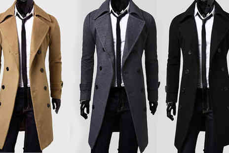 Stylematch Online - Mens Double Breasted Trench Coat - Save 42%