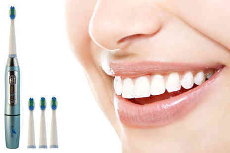 AMS Global - Sonic Electric Toothbrush with Three Brush Heads - Save 63%