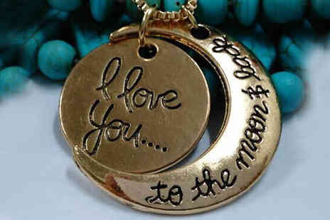 Crazee Trend - Love You To The Moon and Back' Necklace  - Save 75%