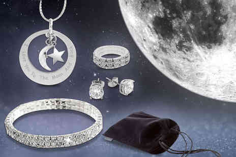 Cian Jewels - Five piece I love you to the moon and back jewellery set - Save 84%