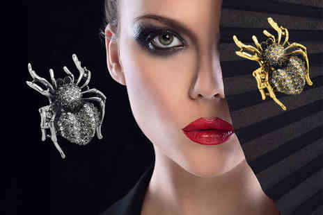 Cian Jewels - Choice of either a sparkling statement spider or skull ring - Save 83%
