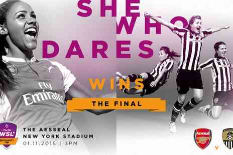 The Face - Adult or Child ticket to The FA WSL Continental Tyres Cup Final 2015 on 1 November - Save 30%