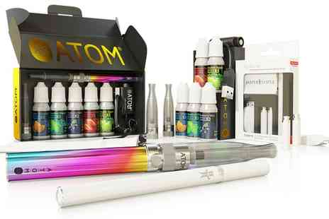 WE ARE TECHNOLOGY - Ten Pc Atom e Cigarette Starter Kit With 5 e Liquids and Jasper+Jasper Xplorer Kit With Free Delivery - Save 79%
