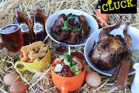Cluck - Chicken Wings, Rotisserie Chicken, and Sides to Share with Beer Each for Two  - Save 60%