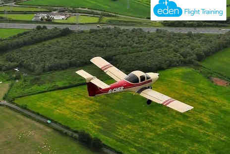 Eden Flight Training - Flight Experience with Ground Training in Two Seater Piper Tomahawk Aircraft   - Save 50%