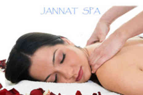 Jannat Spa - One hour Full Body Massage with choice of extra treatments on the day - Save 67%