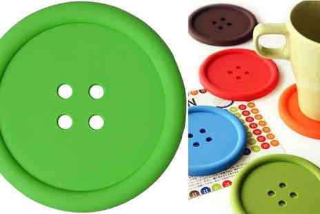 Rubybliss Global - Four Button Shaped Coasters - Save 59%
