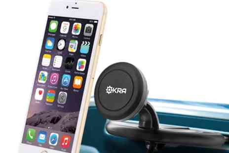 Mobile Star LLC - Okra Universal Powerful Magnetic CD Slot Car Mount for all Smartphones - Save 60%