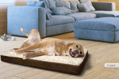 Jazooli - Small ultra soft washable dog mattress a medium for a large choose from Two colours - Save 33%