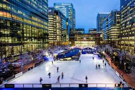 Ice Rink Canary Wharf - Entry to Ice Rink Canary Wharf Peak or Off Peak  for Two  - Save 55%