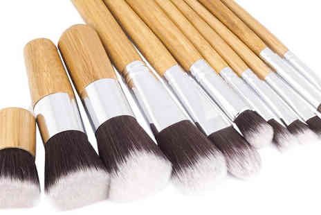 Stylematch Online - Bamboo Eco Friendly 10pc Make Up Brush Set - Save 0%