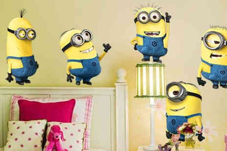 Stylematch Online - 5 Pack of Despicable Me Minion Wall Stickers - Save 80%