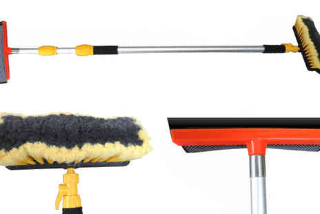 Plus Bee - 3m Aluminium Extendable Telescopic Wash Brush - Save 0%