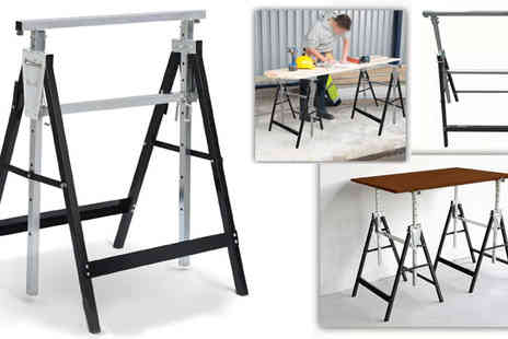 Plus Bee - 2 x Builders Telescopic Workbench Trestles - Save 0%