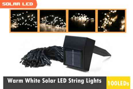 Fabshopper - 100 LED Solar Fairy Lights - Save 58%