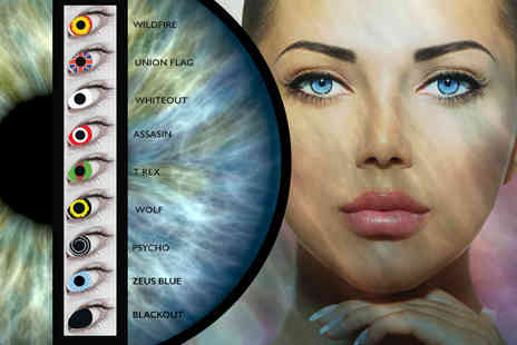 DVA Beautique - Pair of disposable Halloween inspired Xtreme lenses for 90 day lenses choose from Nine styles - Save 72%