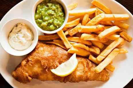 The Travellers Rest - Fish and Chips With a Glass of Wine For Two or Four  - Save 55%