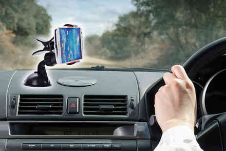Nordic Waves - 360 Degree Rotating GPS and Smartphone Car Holder - Save 60%
