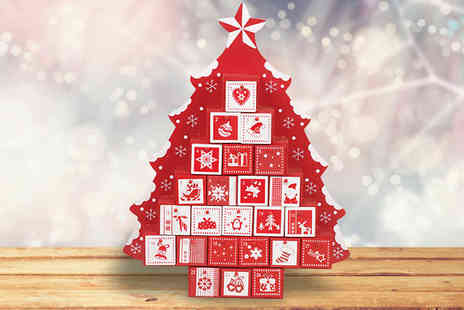 Hungry Bazaar - Nordic Style Wooden Advent Tree - Save 43%